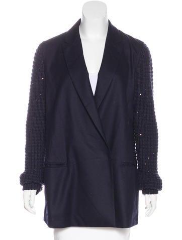 Brunello Cucinelli Wool & Cashmere-Blend Blazer w/ Tags None
