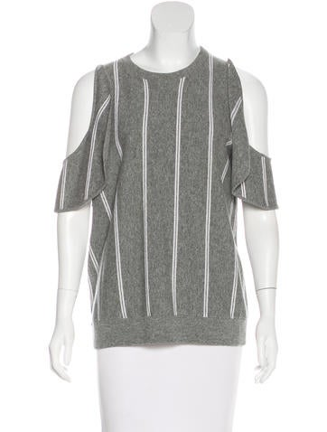Brunello Cucinelli Cold-Shoulder Wool Sweater None
