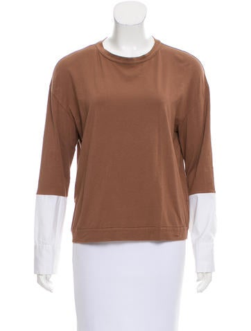 Brunello Cucinelli Layered Long Sleeve Top None