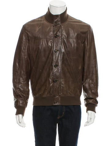 Brunello Cucinelli Rib Knit-trimmed Leather Jacket None