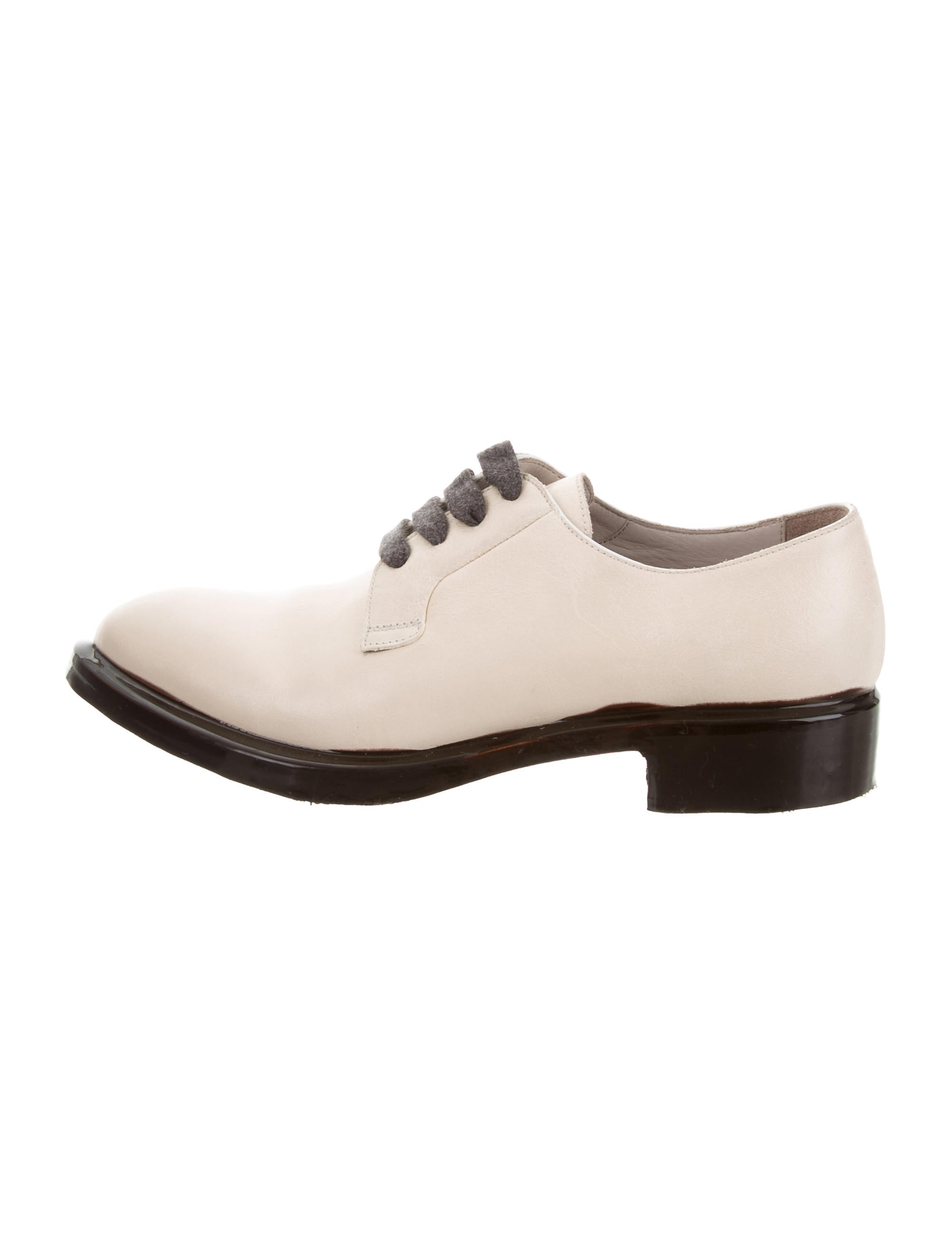 Brunello Cucinelli Leather Round-Toe Oxfords cheap 2014 newest sale tumblr sale real 2015 for sale 85fJU