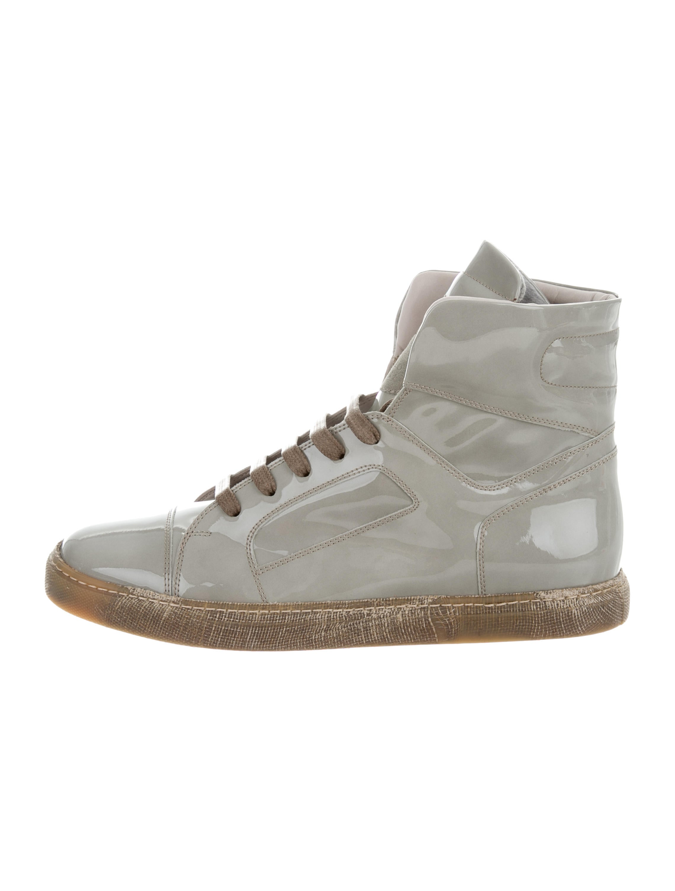 Brunello Cucinelli Patent Leather High-Top Sneakers w/ Tags cost sale online sale wholesale price cheap online vCtY6W