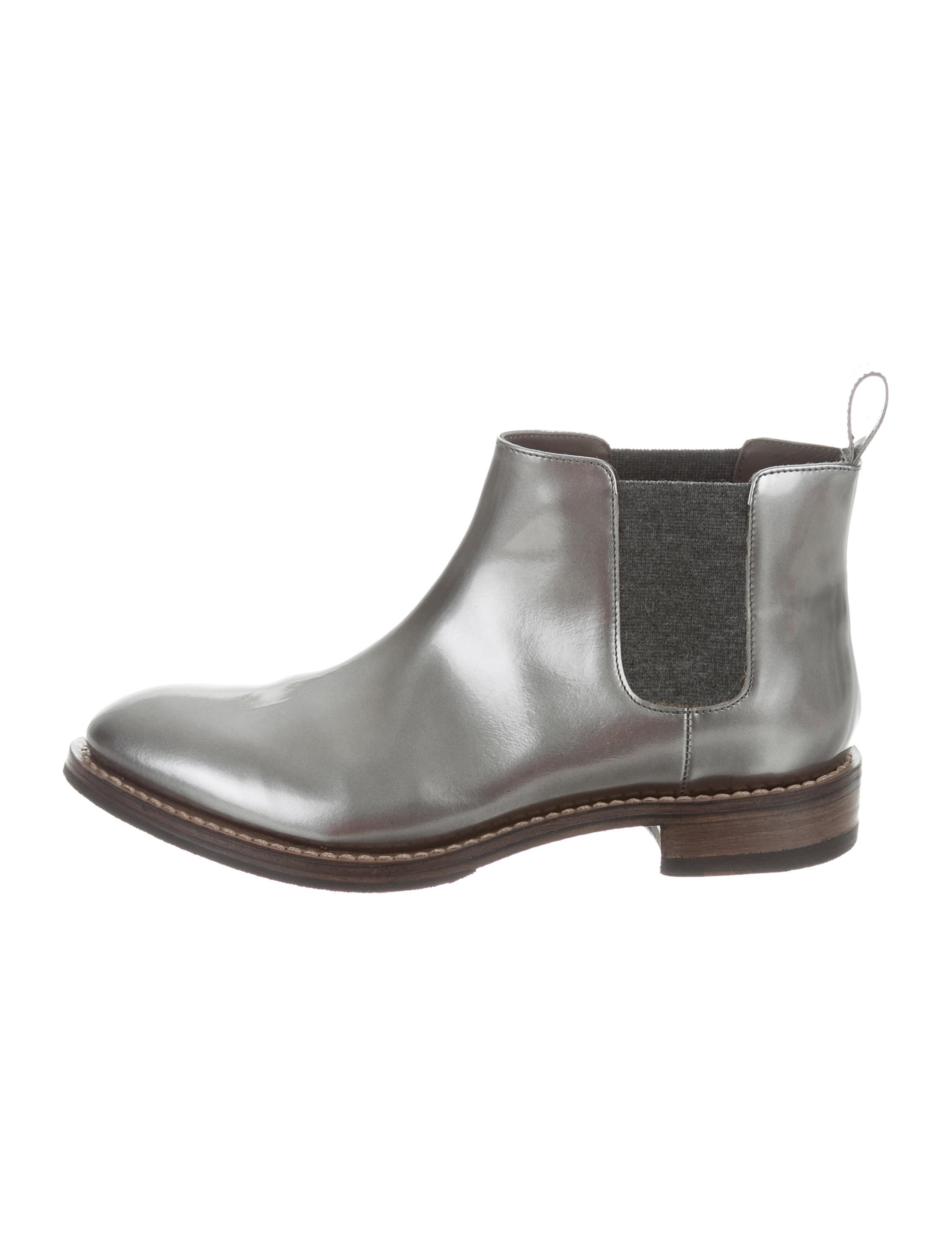 Brunello Cucinelli Metallic Leather Ankle Boots w/ Tags the cheapest clearance official site fashion Style online very cheap cheap online 7coxD6i