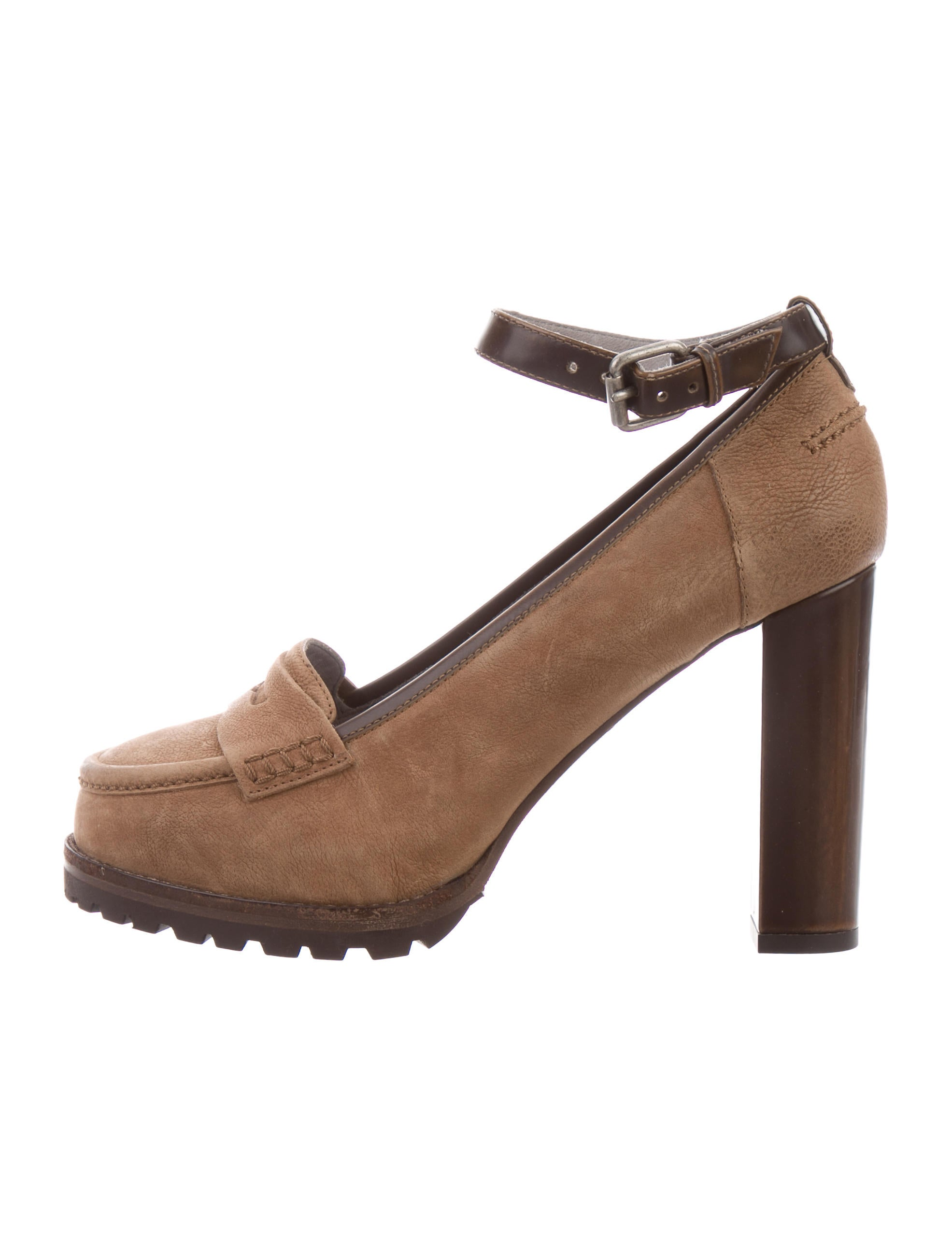 Brunello Cucinelli Leather Platform Pumps cheap sale eastbay sale 2015 new QbH8ha