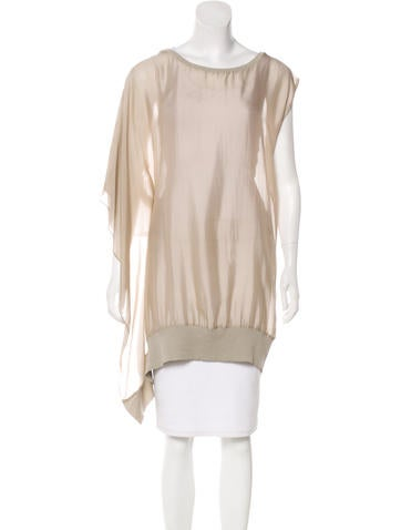Brunello Cucinelli Scoop Neck Oversize Top None