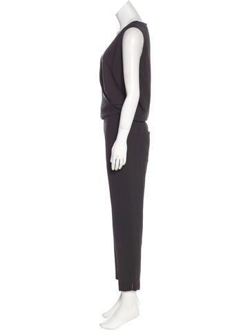 Sleeveless Silk Jumpsuit