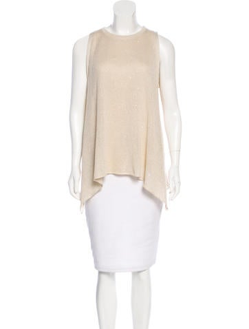 Brunello Cucinelli Linen and Silk-Blend Top None