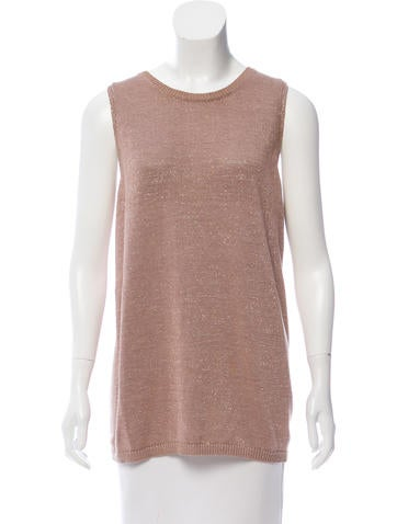 Brunello Cucinelli Metallic Knit Top None