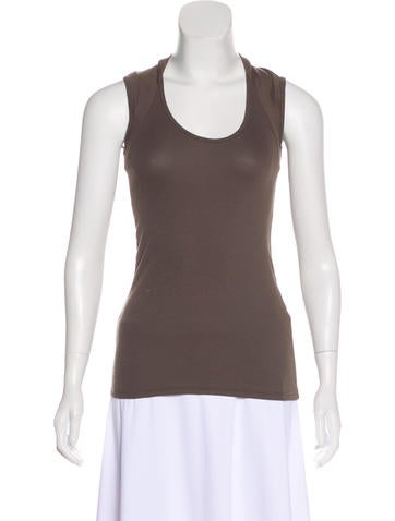 Brunello Cucinelli Scoop Neck Sleeveless Top None