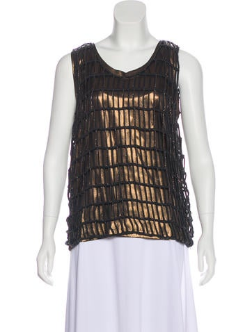 Monili-Trimmed Cage Top