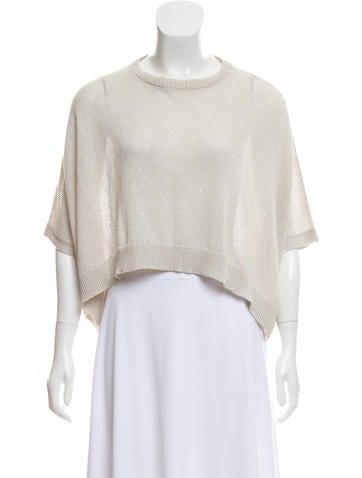 Brunello Cucinelli Embellished Linen & Silk Sweater None