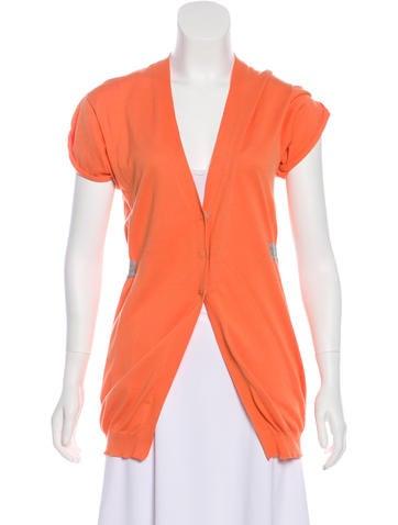 Brunello Cucinelli Short Sleeve Knit Cardigan None