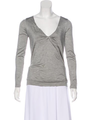 Brunello Cucinelli Silk Long Sleeve Top None