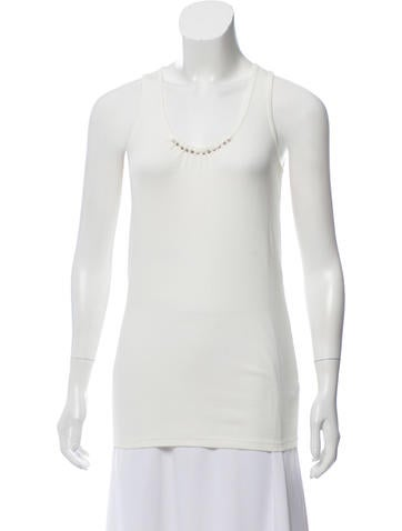 Brunello Cucinelli Sleeveless Embellished Top None