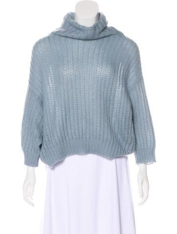 Brunello Cucinelli Mohair-Blend Open Knit Sweater None