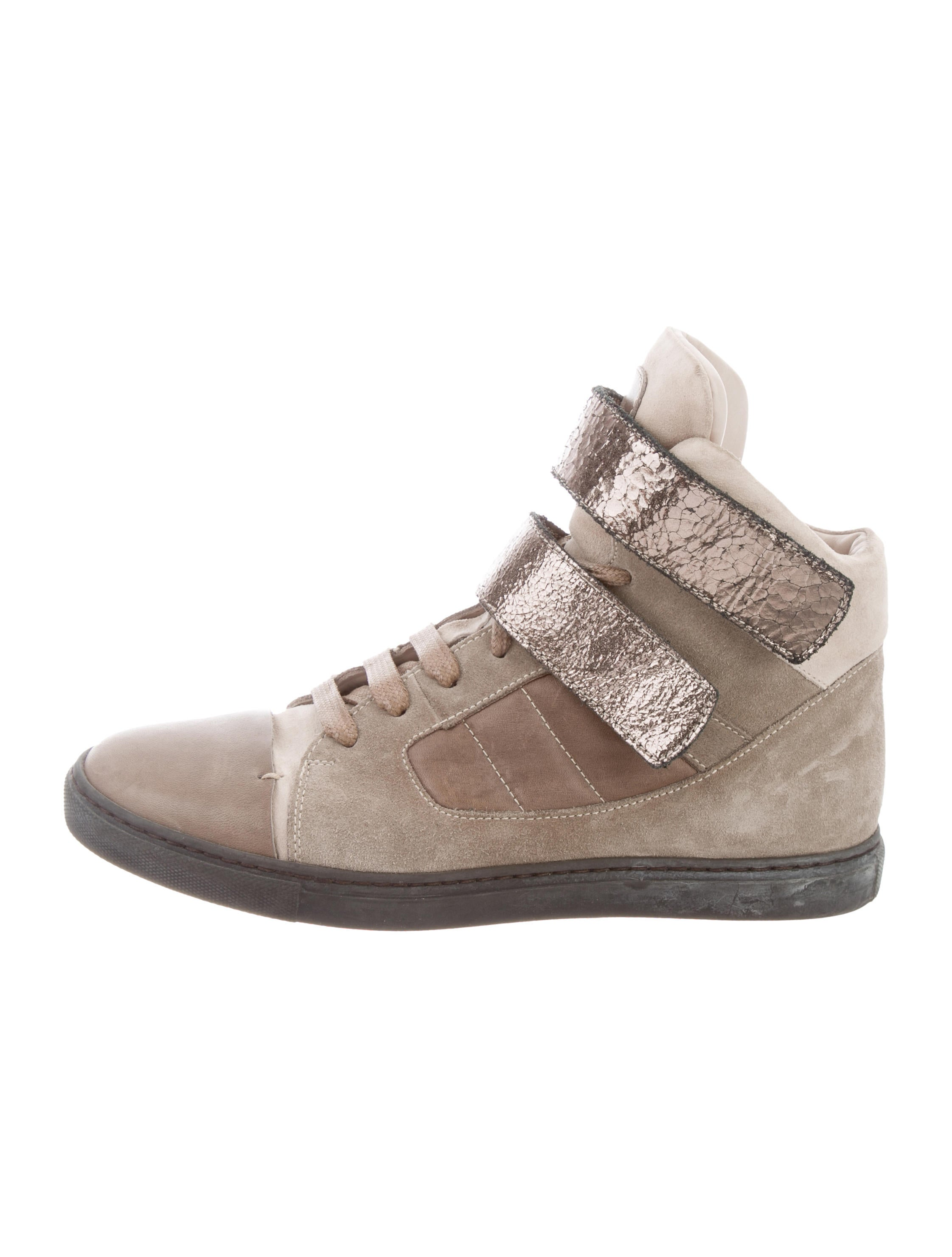 with credit card cheap online Brunello Cucinelli Suede Cap-Toe Sneakers prices sale online y5oCOba