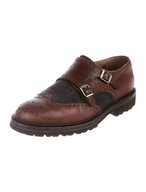 73b046386b Brunello Cucinelli Spectator Monk Strap Loafers - Shoes - BRU89186 ...