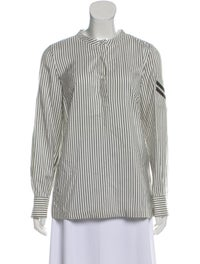 Striped Silk Blouse image 1