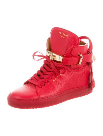 Turn-Lock High-Top Sneakers