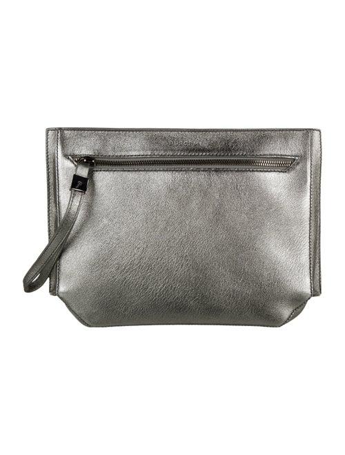 Buscemi Metallic Leather Clutch Metallic