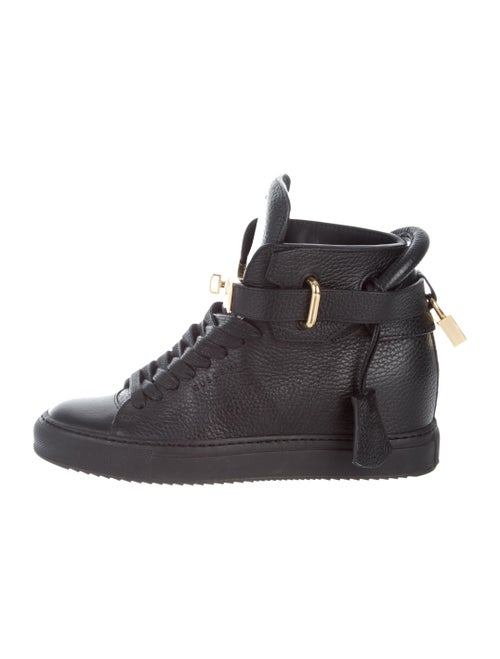Buscemi Leather Wedge Sneakers Black