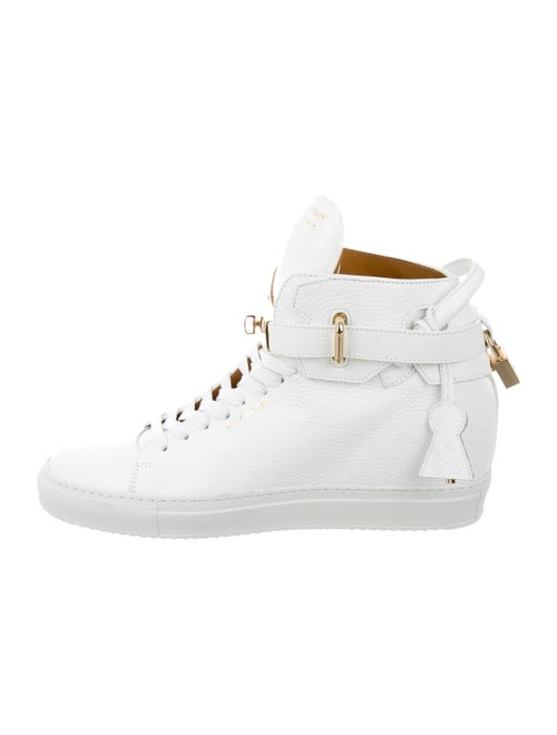 Buscemi 100Mm Alta Wedge Wedge Sneakers White