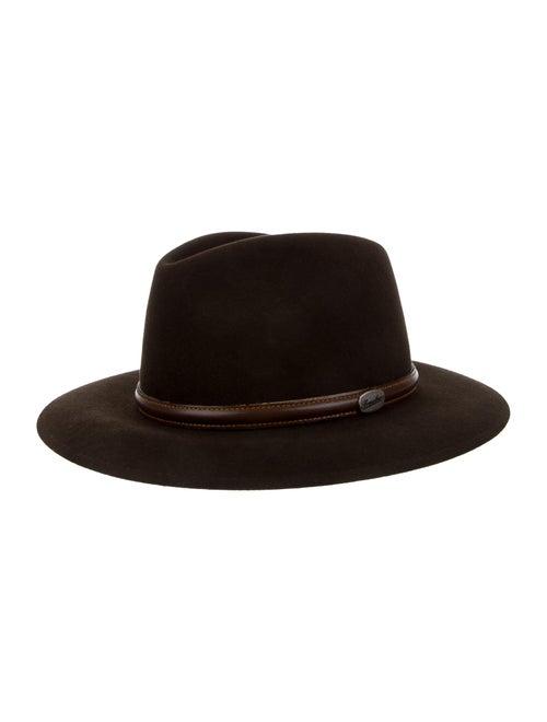 Borsalino Fur Felt Fedora Hat brown