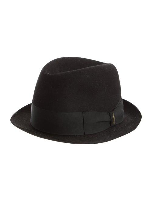 Borsalino Felt Fedora Hat Black