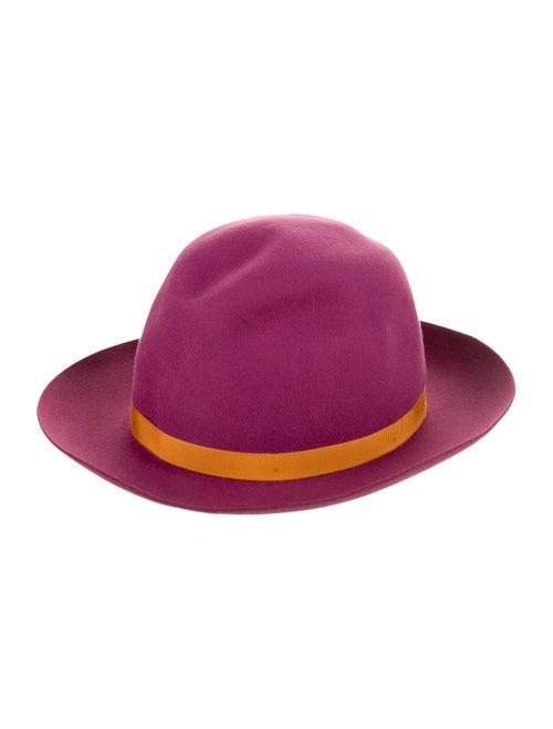 Borsalino Felt Fedora Hat Magenta