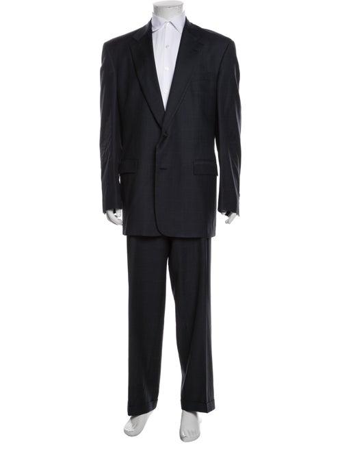 Burberry's Two-Piece Suit Blue