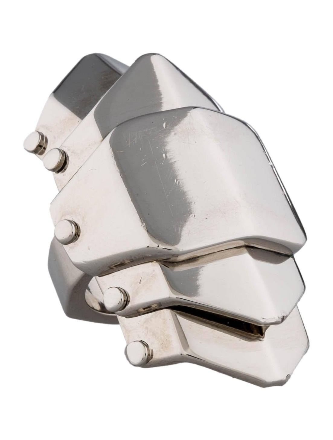 burberry prorsum hinged shield ring rings buf20208