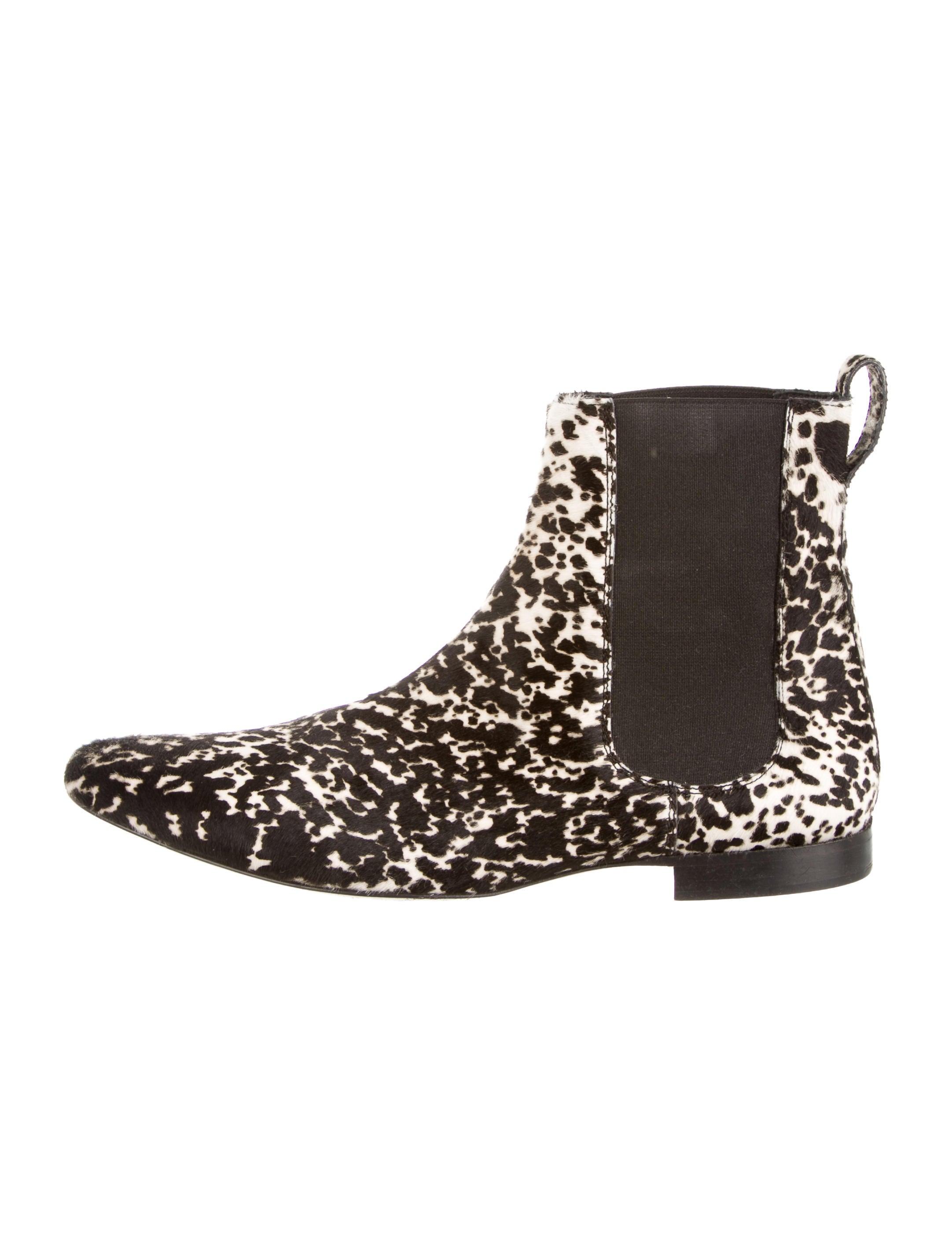 burberry prorsum ponyhair chelsea boots shoes buf21093