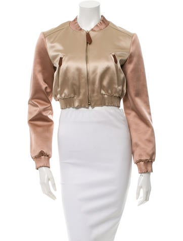 Burberry Prorsum Colorblock Cropped Jacket