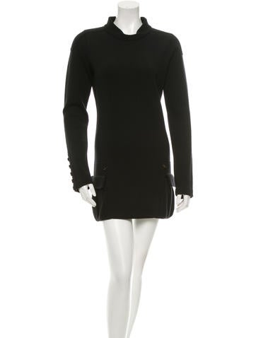 Burberry Prorsum Wool Sweater Dress None