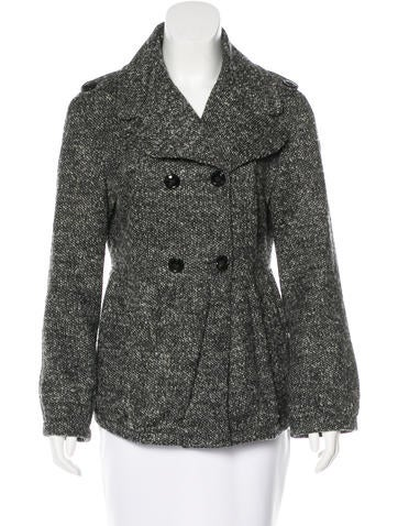 Burberry Prorsum Wool Tweed Peacoat