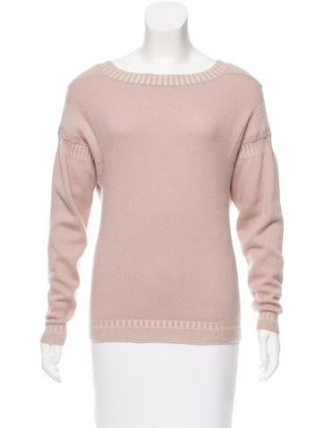 Burberry Prorsum Cashmere Scoop Neck Sweater None