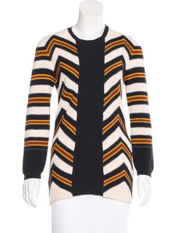 Burberry Prorsum Chevron Knit Sweater None