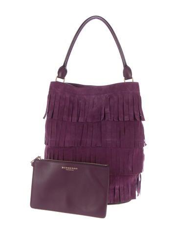 Suede Fringe Bucket Bag