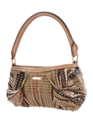 Embellished Check Sling Shoulder Bag
