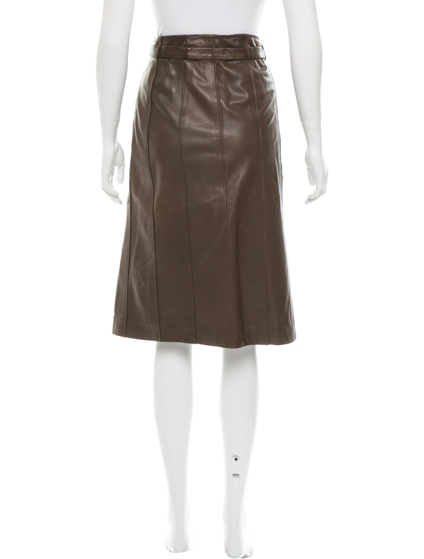 burberry prorsum leather knee length skirt clothing