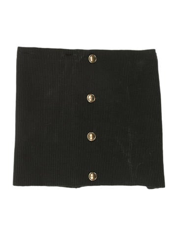 Burberry Prorsum Rib Knit Button-Embellished Snood None