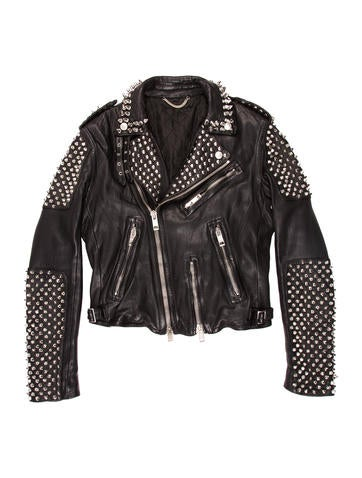 Burberry Prorsum Spiked Leather Jacket