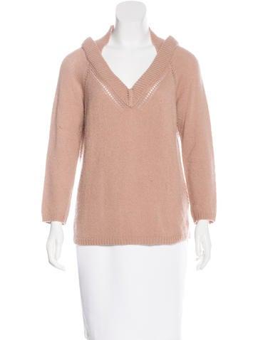 Burberry Prorsum Cashmere V-Neck Sweater None