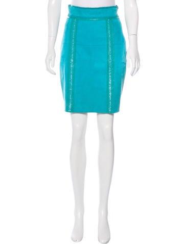 Burberry Prorsum Suede Pencil Skirt
