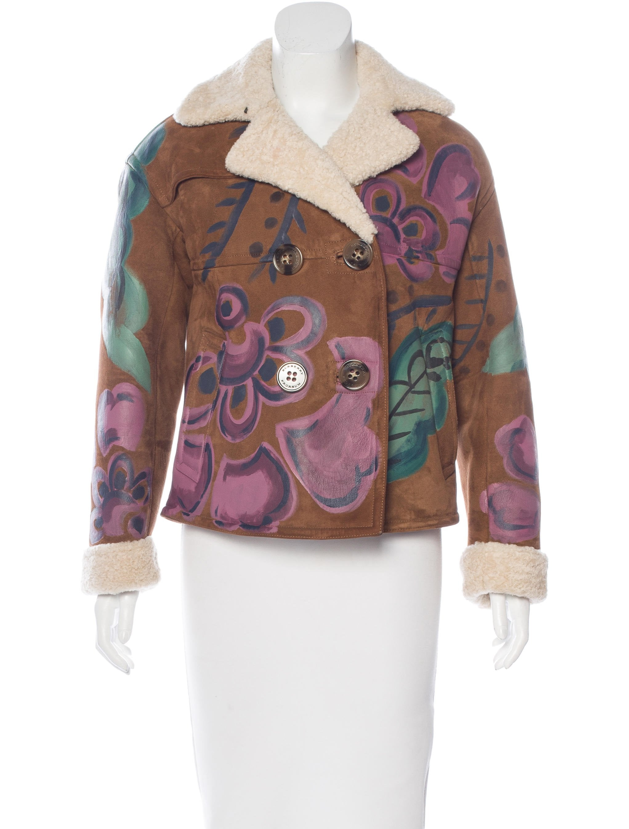 e631f07ae713 Burberry Prorsum Shearling Hand-Painted Jacket - Clothing - BUF23124 ...