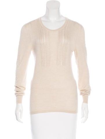 Burberry Prorsum Cashmere Macramé Sweater None