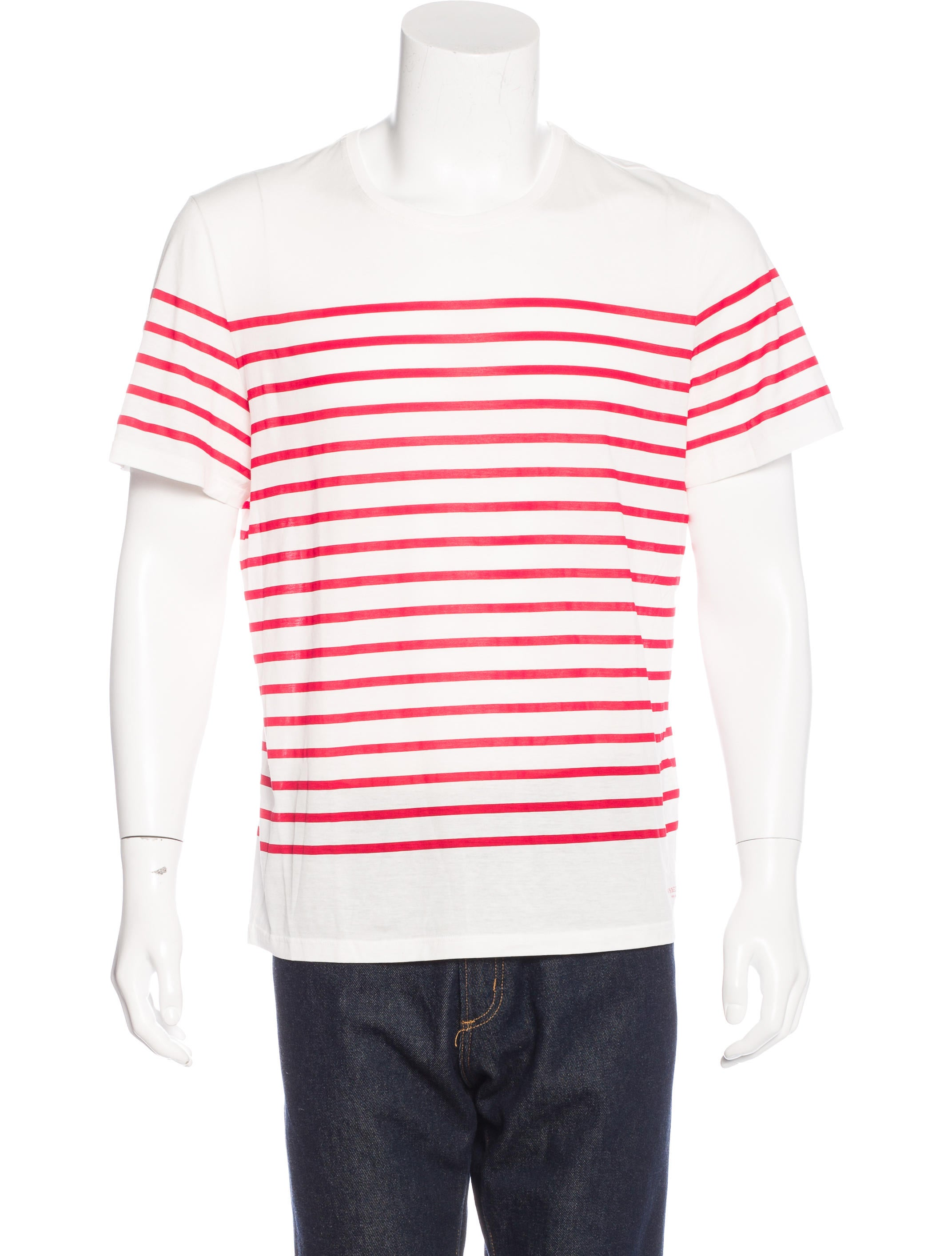 Burberry prorsum striped scoop neck t shirt clothing for Scoop neck t shirt
