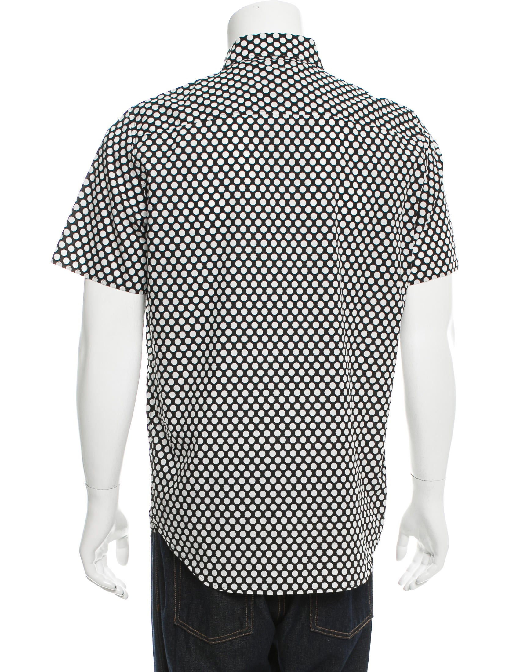 Burberry prorsum short sleeve polka dot shirt clothing for Mens polka dot shirt short sleeve