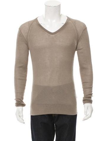 Burberry Prorsum Ribbed Cashmere Sweater None