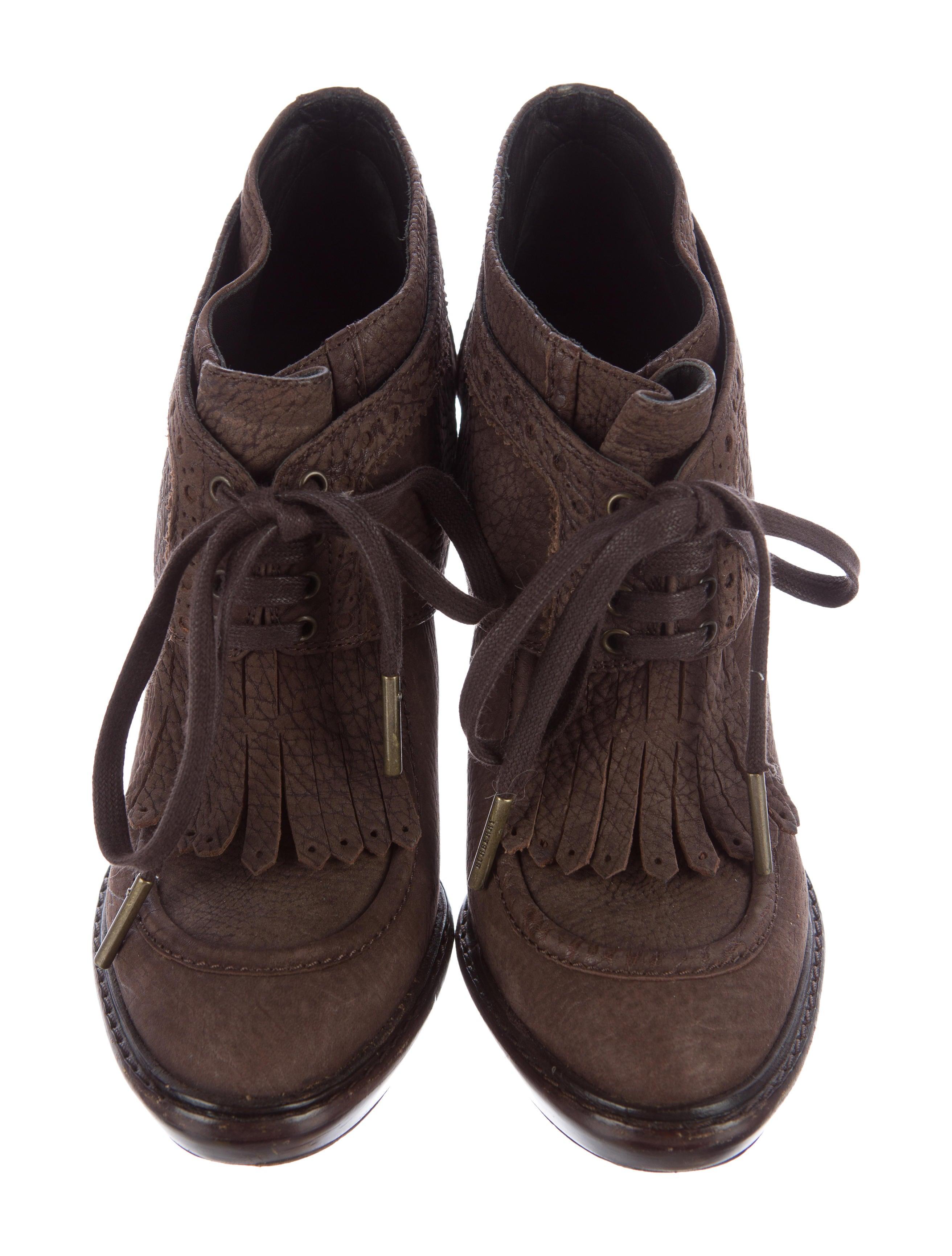 Burberry Prorsum Fringe Platform Boot Shoes Buf23388